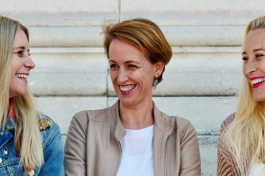 """Gründerinnen Larissa, Uli und Jennifer von ZOÉ LU: """"Es ist toll, dass wir zu dritt sind"""""""